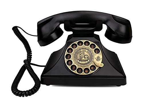 SQL Multifuncional teléfono fijo Retro teléfono fijo rotatorio Dial antiguo teléfono casa teléfono hogar
