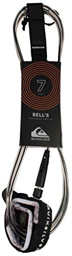 Quiksilver Bell's 7' - Correa para Tabla de Surf, Color Negro