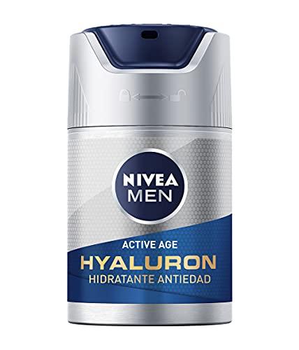 NIVEA MEN Hyaluron Crema Hidratante Antiedad FP15 (1 x 50 ml), cuidado facial avanzado...