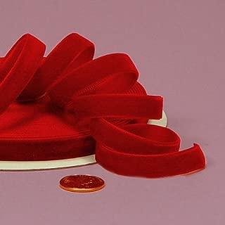 Red Velvet Ribbon, 3/8