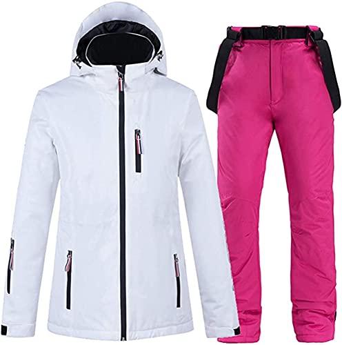 TIANYOU Sra Prendas de Esquí Traje de Chaqueta Y Pantalón Impermeable Resistente Al Viento Cálido Invierno Traje de Nieve Algodón Jacket Traje de Esquiar Adecuado para Esquí de In