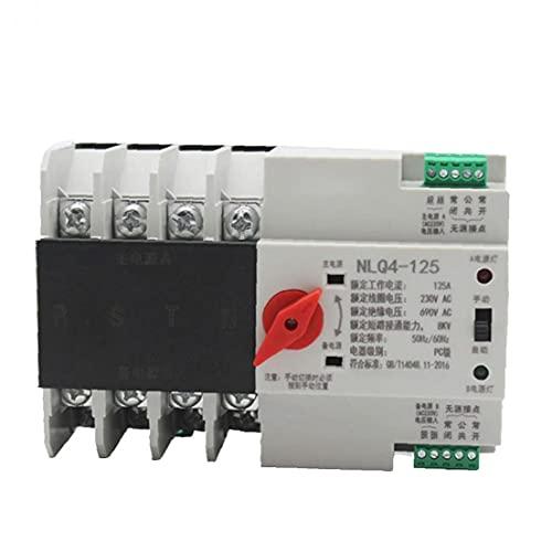 Interruptor de transferencia automática de doble potencia de CA 380V 80A 4P del interruptor eléctrico Electricidad Seguridad para carril DIN