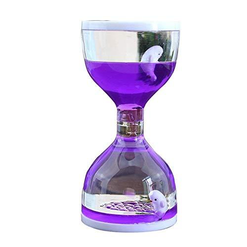 deYukiko Liquid Motion Floating Bubbler Timer Sensorische Spielen Neuheit Gag Schreibtisch Spielzeug Lila