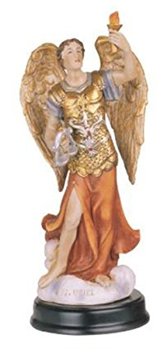 George S. Chen Imports 5-Inch Archangel Uriel Holy Figurine Religious Decoration Statue
