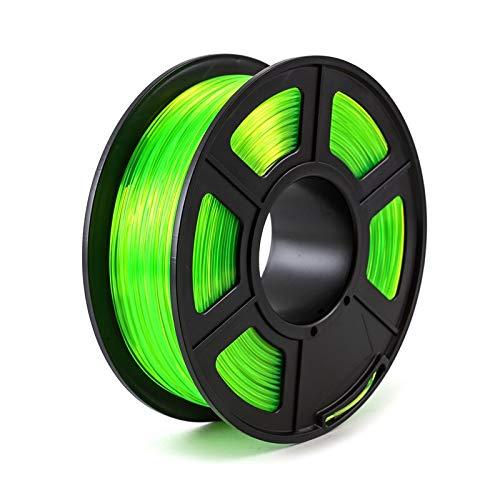 TongGuo 3D Printer Filament PETG 1.75mm 1kg/2.2lbs Plastic Filament Consumables PETG Material for 3D Printer (Color : 2 Green)