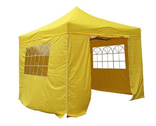 All Seasons Gazebos 3x3m Waterproof Pop Up Gazebo - Yellow (Standard Sides)