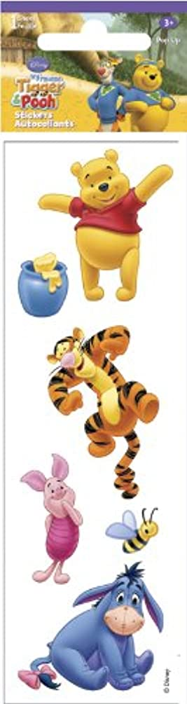 Disney Winnie the Pooh Slims Dimensional Stickers (6 Stickers, 1 Sheet)