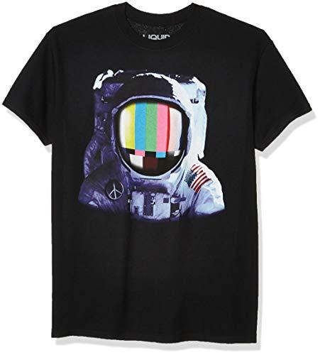 Liquid Blue Men's Space Station T-Shirt, Black, Small