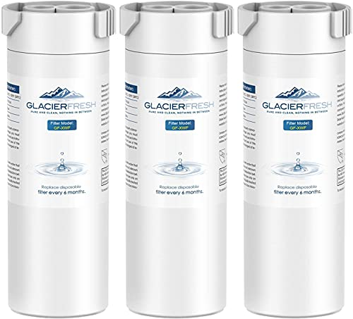 GLACIER FRESH XWF Replacement for GE XWF Refrigerator Water Filter Pack of 3