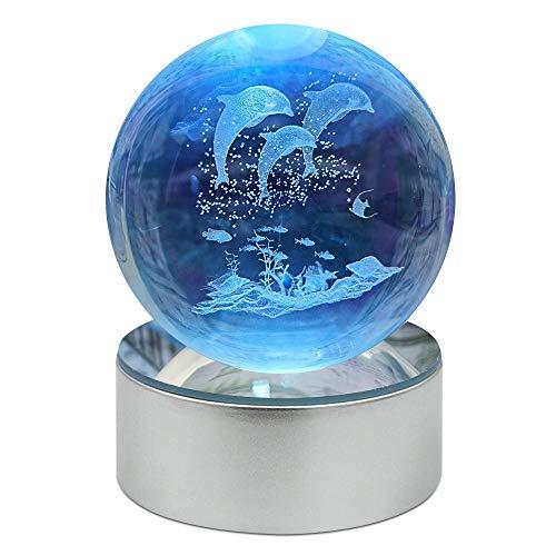 WZLPY 3D Kristallkugel K9 Kristall 80mm klare Kugel, Nachtlichter für Kindergeburtstagsgeschenk Nette Lampe.