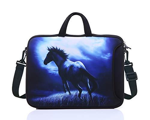 15.6-Inch Laptop Shoulder Sleeve Bag Case With Handle For 15 15.6' Acer Dell Hp (blue)