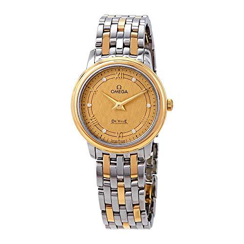 Omega De Ville Prestige Diamond Champagne Wijzerplaat Dames Horloge 424.20.27.60.58.004