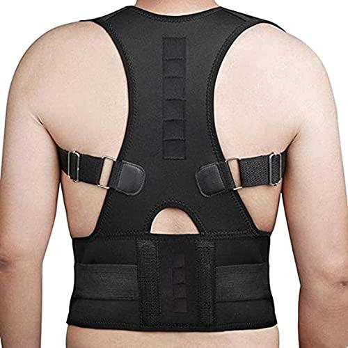 Soporte trasero Corrector de postura PRUEBA DE ATRÁS - Postura ajustable de grado médico Soporte de clavícula con cinturón lumbar de espalda baja.Mejorar la mala postura, para el alivio del dolor de e