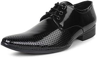 BUWCH Men Formal Black Patent Leather Shoe