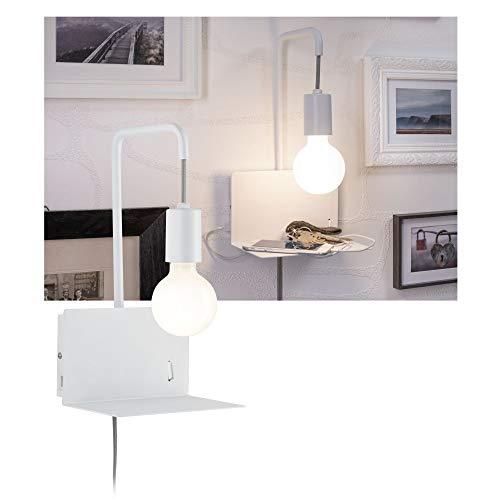 Paulmann 79812 Wandleseleuchte Calvani max. 40 Watt Wand-Leselampe Weiß Leselicht Metall Wandbeleuchtung E27