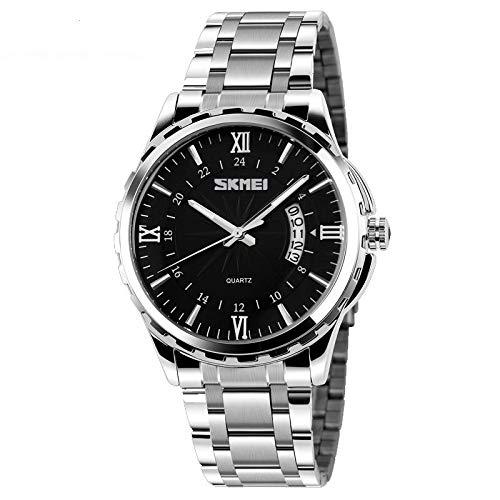 AREITDTY 独特商务运动装饰计时表表表盘腕表 时尚不锈钢表带运动*模拟石英表 男式