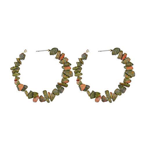 Anillo de oreja Pendientes Pendientes Genial pendientes Colorido pendientes de Pendientes de acero inoxidable Pendientes Turquesa green
