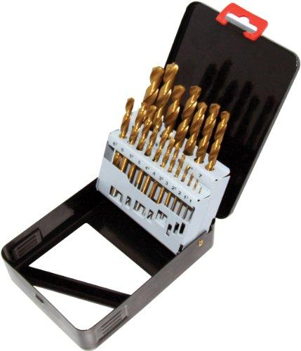 Am-Tech Titanium Coated Drill Set (19 Pieces)