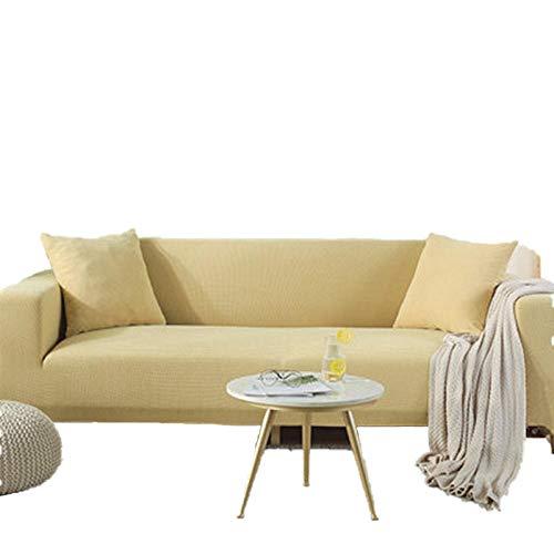 BLACK ELL Funda protectora para sofá de piel, antiarañazos, antigolpes, para sofá de piel, para todas las estaciones, 190-230 cm, amarillo