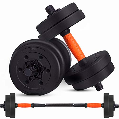 ZJJ Fitness Barbell Set para Adultos, manijas de Metal Ajustables Fuerza Peso Hierro 10Kg 15Kg 20GK Body Building Gym Gym Barbell and Kettle Bell