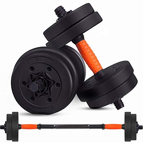 ZJJ Set bilanciere Fitness per Adulto, Maniglie Metalliche Regolabili Peso Ferro 10 kg 15 kg 20 kg, Attrezzatura da Palestra per Body Building Come bilanciere e Campana per bollitore