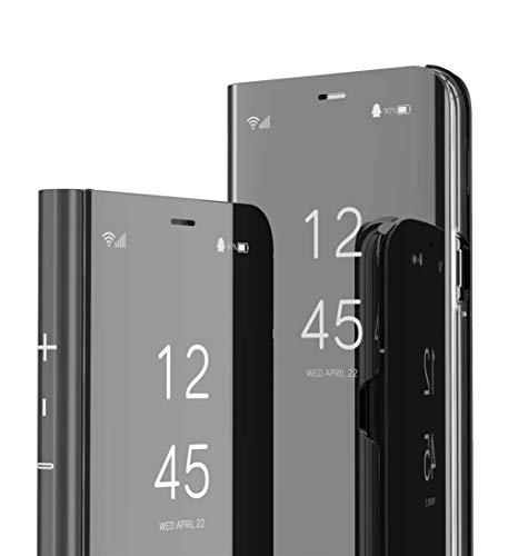 DG.MING Espejo Inteligente Funda para Samsung Galaxy A5 2017 Funda Espejo Ultra Slim Brillante Standing Mirror Flip Caso Clear View Case Cover