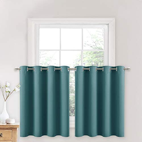 NICETOWN Kitchen Window Short Curtains Blackout Ring Top Thermal Insulated Functional Curtain product image
