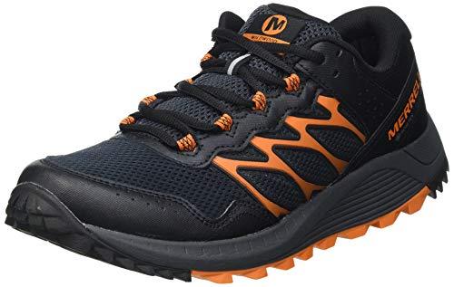 Merrell Wildwood GTX, Zapatillas para Caminar Hombre, Negro (Granite), 41.5 EU