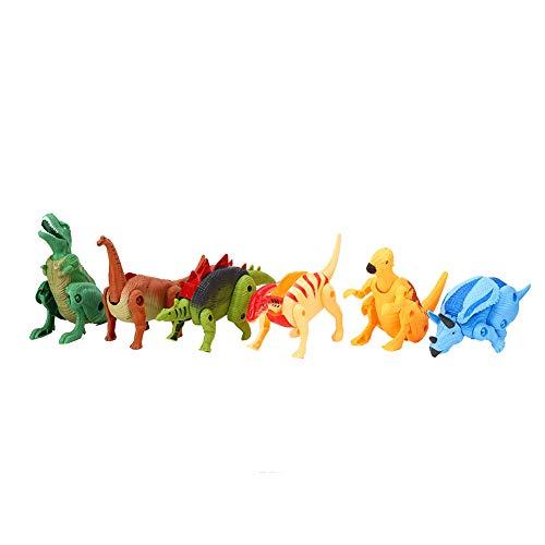 Dinosaur Eggs Toy, Dinosaur Model Toy, 6PCS Plástico Decorativo deformable para Regalo Juguetes preescolares Juego de Cerebro Juguetes para niños(SE Transformed Dinosaur Egg)