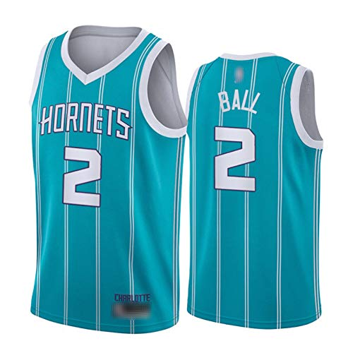 Lamelo Ball Jersey para Hombres, Hornets 2# City Edition Basketball Jersey 2021 New Youth Swing Swing T-Shirt Top Top (S-XXL) Teal -M