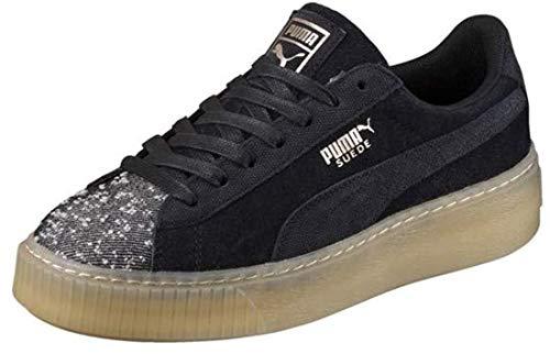 Puma Suede Platform Pebble Wn's Sneakers Nero CAUCCIU' 365464-04 - 37, Blu
