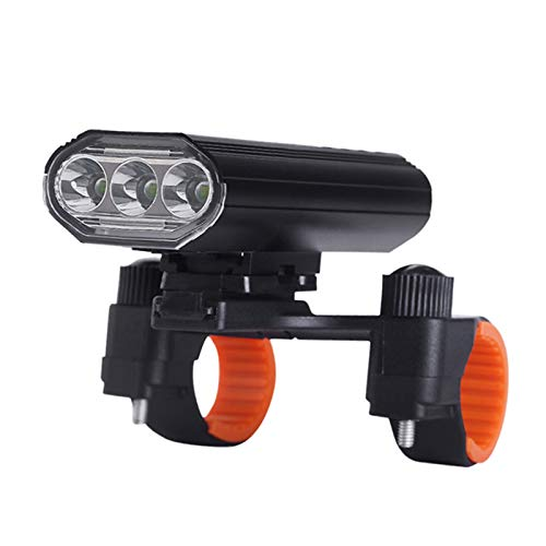 4000 Lumens Super Bright Bike Headlight 3 LED,9 Modes Light Runtime 15+ Hours Waterproof Bicycle Headlight and Taillight,Light for Road,Mountain