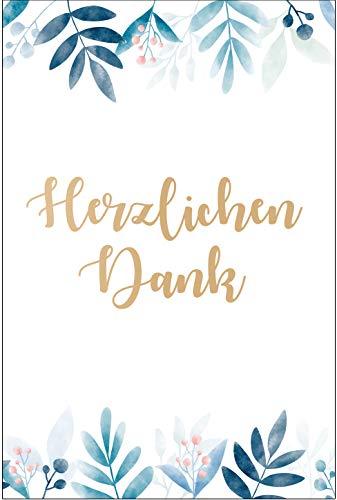 10 Stück Exclusive Premium Dankeskarten (Klappkarten) mit Umschlägen, Danke, Dankeschön, Karten, Dankekarten, Hochzeit, Geburt, Baby, Taufe, Abschied, Geburtstag, Jubiläum