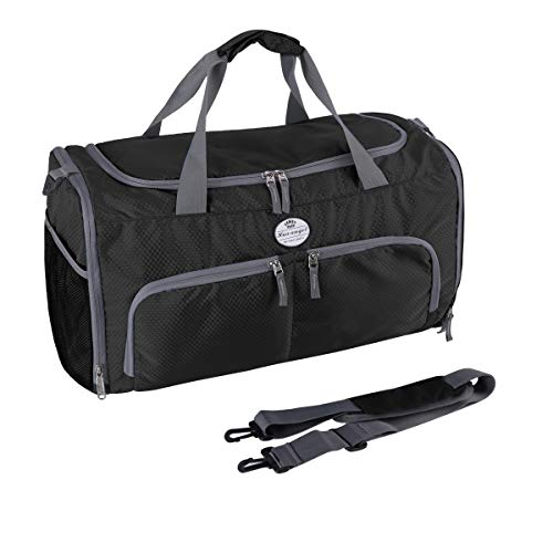 HUA ANGEL Travel Duffel Bag-Unisex Fitness Gym Bag Portable Sports Swim Travel Yoga Tote Bag with Shoes Compartment & Wet Pocket