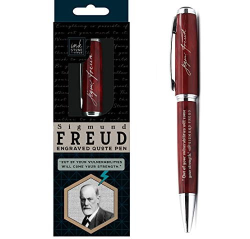"Sigmund Freud Engraved Quote Pen -"" Out of Your Vulnerabilities Will Come Your Strength."" - Psychology Gifts for Psychologists Guidance Counselors Psychology Students Therapists"