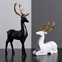 彫刻像の装飾リビングルームの部屋の装飾樹脂彫刻シミュレーションエルクの装飾品ワインキャビネットの装飾