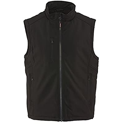 RefrigiWear Men's Water-Resistant Warm Insulated Softshell Vest (Black, Small) by RefrigiWear