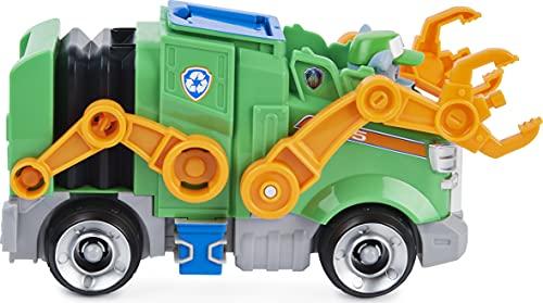 PAW PATROL Rocky's Deluxe - Coche de Juguete Transformador de película con Figura de acción Coleccionable, Juguetes para niños a Partir de 3 años