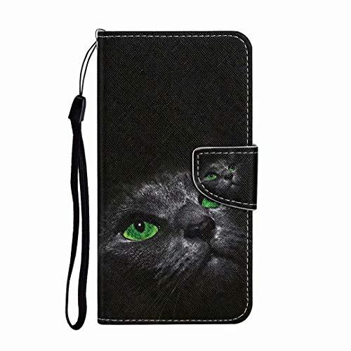Funda para iPhone XR, a prueba de golpes, de piel sintética de alta calidad, con función atril magnética, para iPhone Xr, color Gato negro, tamaño iPhone Xr