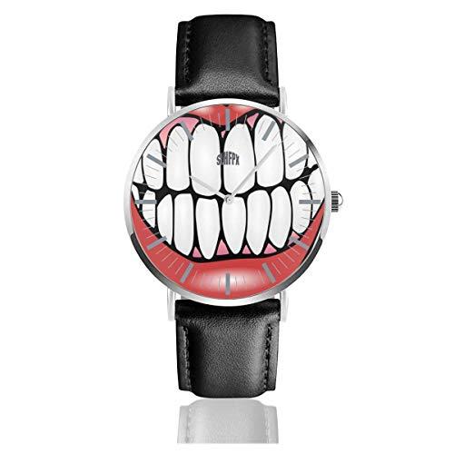 Herrenuhr Zahn Clip Art Edelstahl Quarz Armbanduhren