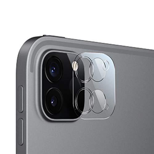 QULLOO Kamera Panzerglas Schutzfolie für iPad Pro 2020, [2 Stück] Kamera Linse Panzerglasfolie Anti-Kratzen Kameraschutz für Neu Apple iPad Pro - Transparent