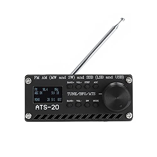 APROTII Radio Receiver Full Band Receiver, Si4732 FM AM SSB Radio Receiver Scanner Portable Handheld Radio Recorder Built-in Battery, with Speaker, Antenna,Aluminum Alloy Case