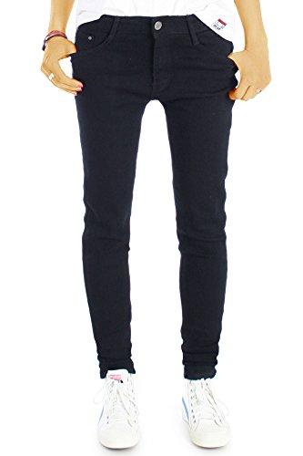 bestyledberlin Damen Jeans, Stretchige SkinnyJeans, Schmale Basic Slim Fit Jeans j22g 40/L