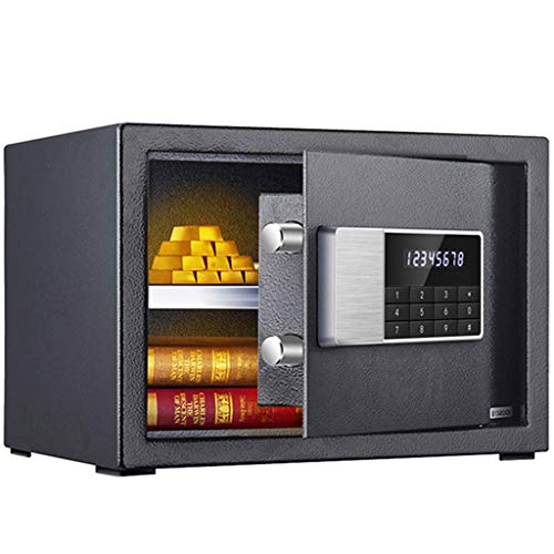 RUCC Caja Fuerte for el hogar, Oficina Comercial, Cerradura electrónica pequeña, antirrobo, Archivo de información Importante, Caja de Seguridad (Color : Black)