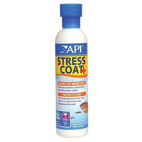 API STRESS COAT Aquarium Water Conditioner 8-Ounce Bottle (85A)