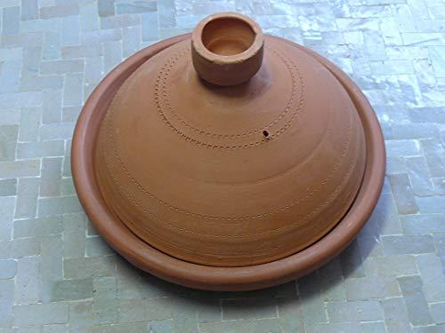 Marokkanische Tajine zum Kochen unglasiert Ø 30 cm für 3-4 Personen - 905703-0003