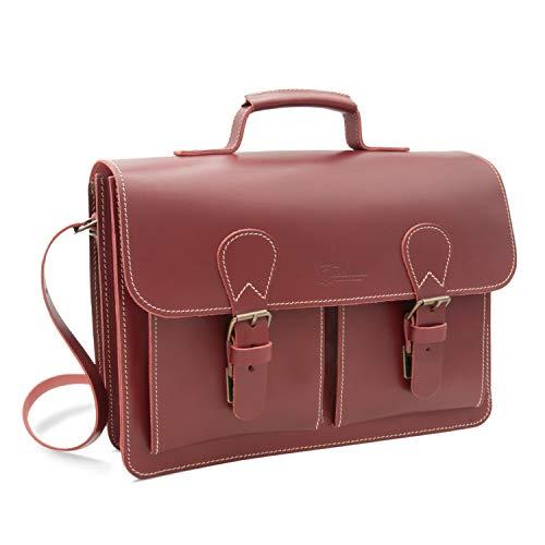 Made in Germany Damen Aktentasche - Lehrertasche Madrid aus pflanzlich gegerbtem Leder in...
