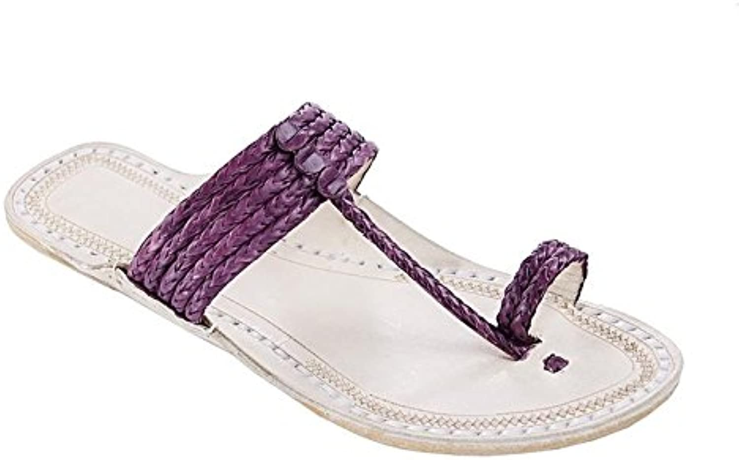 Original kolhapuri chappal Outstanding purple five braids upper kolhapuri women chappal slipper sandal