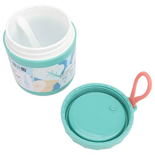 Cabilock Taza de Sopa Sellada con Cuchara Portátil a Prueba de Fugas Aislado Recipiente de Comida Recipiente de Almuerzo Frasco de Sopa Al Vacío para Niños Adultos Oficina Escolar Viaje Al