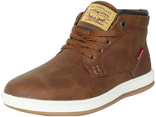 Levi's Mens Goshen Waxed UL NB Casual Sneaker Boot, Tan/Brown, 9 M